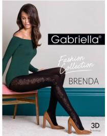 Brenda 439 GABRIELLA rajstopy czarne z z ozdobnym szwem na boku