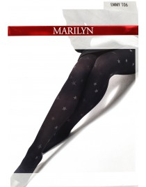 Emmy Stars T06 - Rajstopy Marilyn w gwiazdki z mikrofibry 60 den