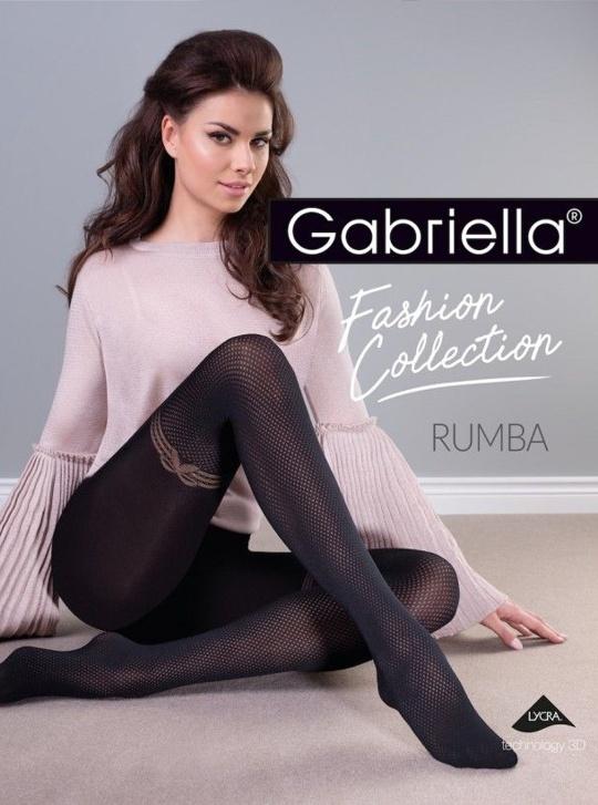 Rumba - Gabriella rajstopy z kokardką
